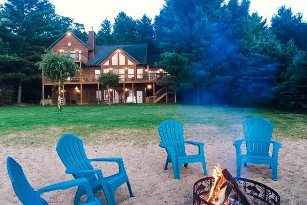 shell-lake-cabin-beach