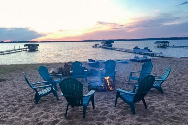 shell-lake-cabin-beach2